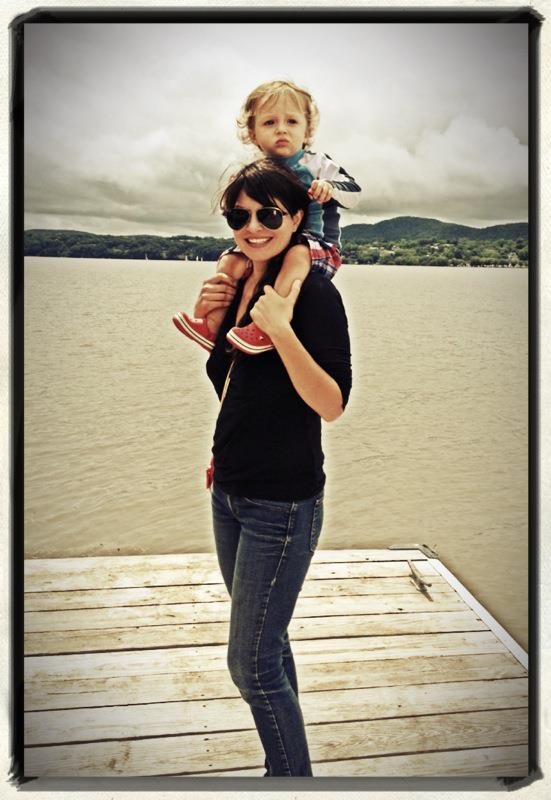 Libby and Miles Storm upstate NY on the Hudson River in Rhinecliff.