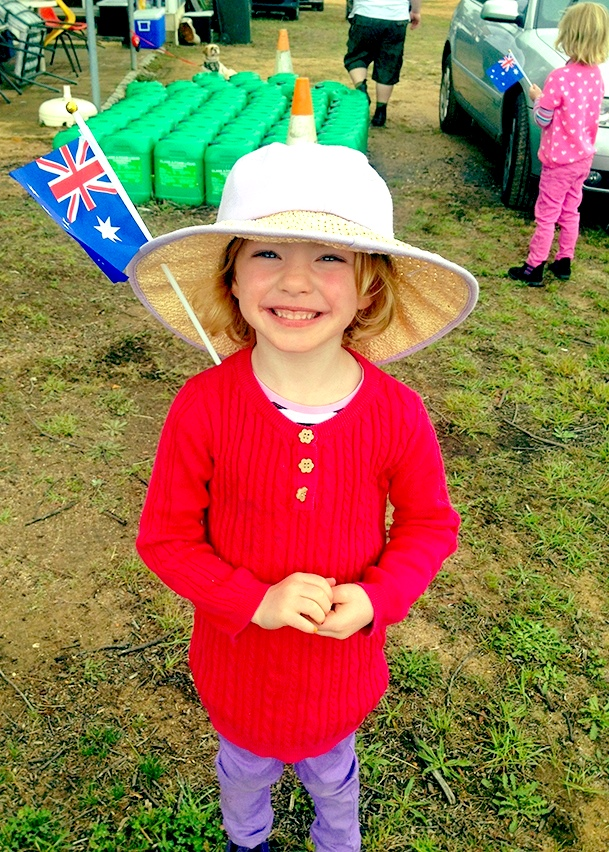 Lillian the Australian Flag on her hat