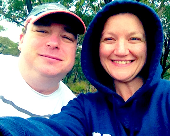 James my hubby and myself at the BBQ on Australia Day. It was cold and although summer I needed a jumper.