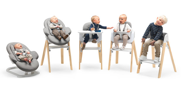 A visual on how the Stokke Steps Concept works