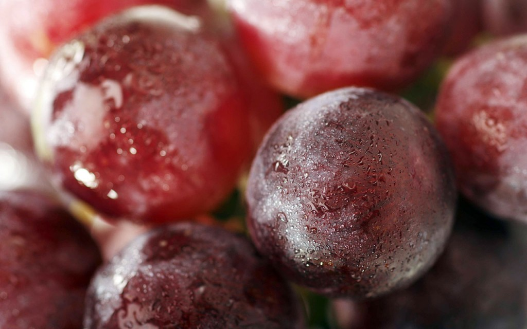 Grapes; touted as a healthy heart food
