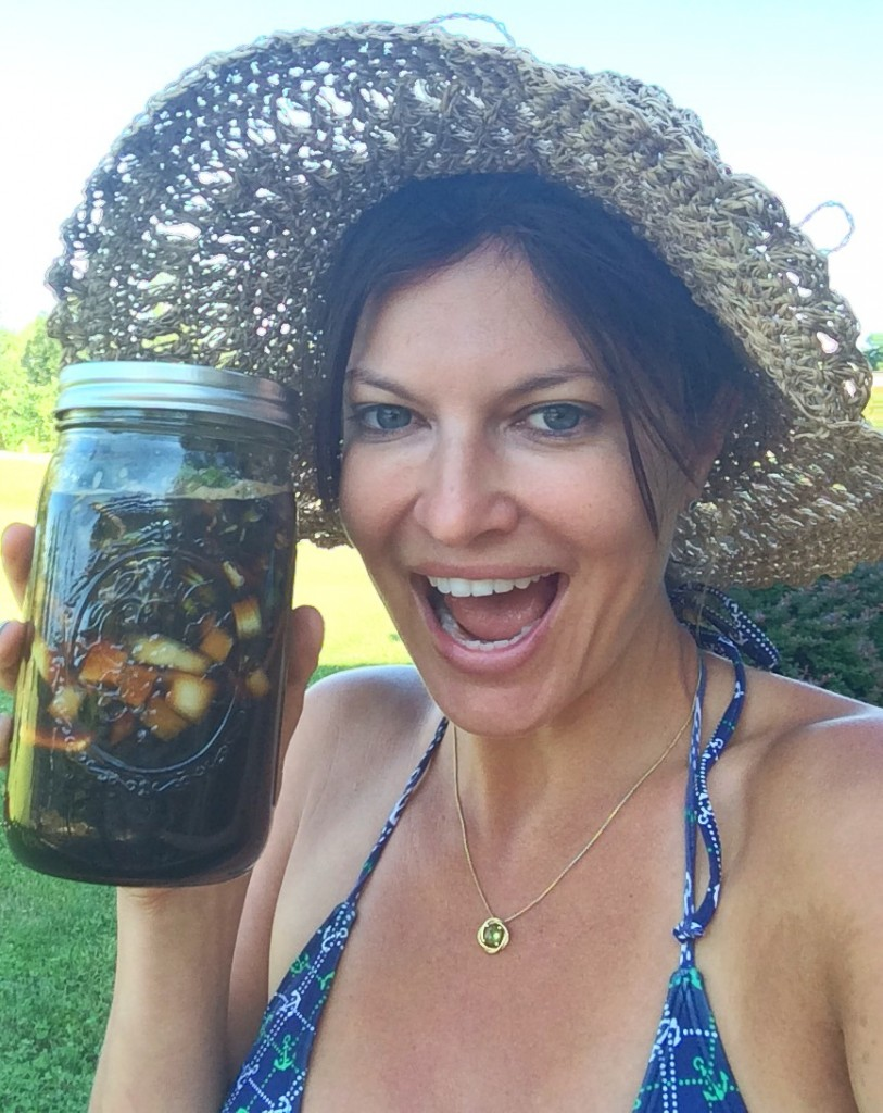 Okay, 4 weeks to go before we get to taste these pickled dandelion buds