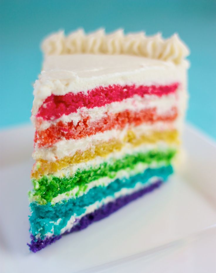 Rainbow Surprise Cake by Speed Bump Kitchen